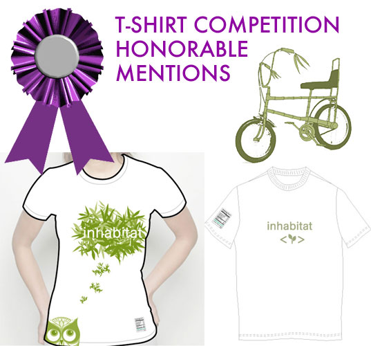 INHABITAT T-SHIRT COMPETITION: Honorable Mentions