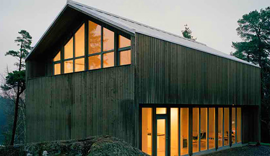 Arkitecthus, Swedish Barn House, Swedish prefab, green prefab, Claesson, Koivisto, Rune, Plus House, Plus prefab house, prefab friday, Sweden, barn, modular architecture, prefabricated housing, prefab homes, new prefab