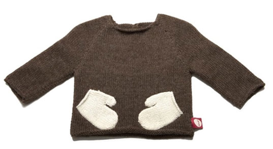 Oeuf Hug Me Sweater, Oeuf Mitten Sweater, Ouef Sweater, Hug-me sweater, Mitten sweater, green kids clothes, eco-friendly kids clothes