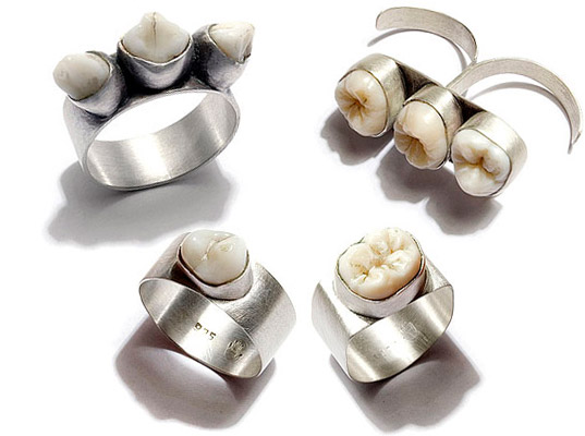 a picture of a new tooth-based jewelry collection