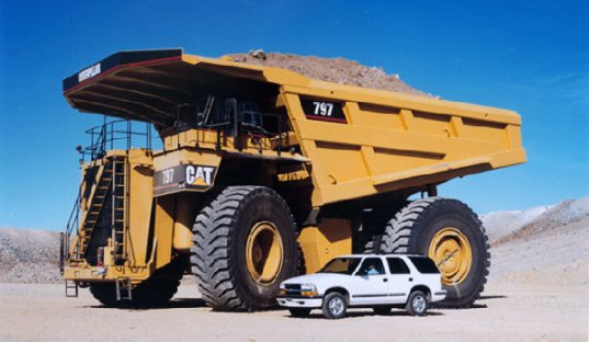 hybrid truck, ge hybrid truck, off-highway vehicle, General Electric, Hybrid mine truck, giant hybrids
