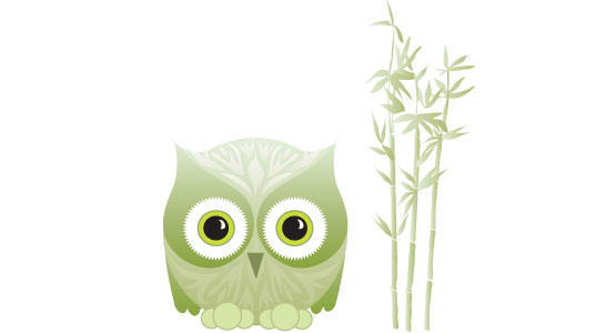Inhabitat Owl Graphic and Inhabitat Bamboo