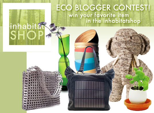 ihshopbloggercontest, IHShop blogger contest, eco blogger contest, green blogger contest, Inhabitatshop blogger, inhabitatshop green blogger contest, blogging contest, eco blogging, green shop
