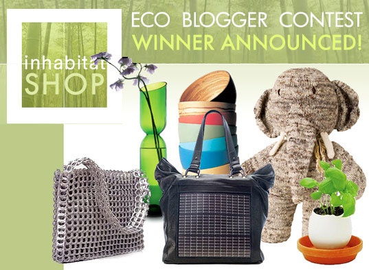 Inhabitat Shop blogger contest, eco blogger contest, shop blogger contest,