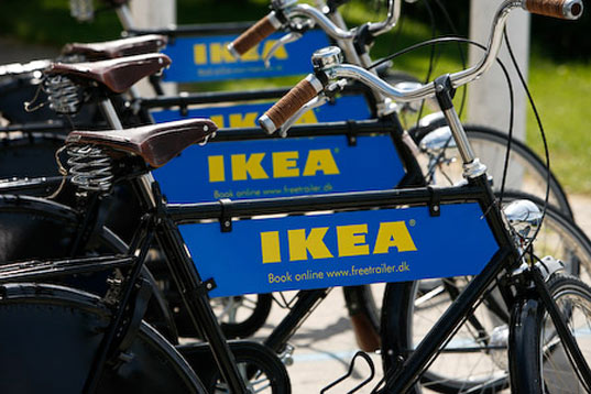 IKEA, IKEA Denmark, IKEA bike trailers, IKEA flatpack, IKEA bicycle rental, IKEA bicycles, IKEA flatpack packaging, IKEA transport, eco-friendly transportation, bike power, bicycle power, bicycle transport, ikeatrailer2