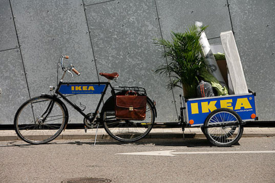 IKEA, IKEA Denmark, IKEA bike trailers, IKEA flatpack, IKEA bicycle rental, IKEA bicycles, IKEA flatpack packaging, IKEA transport, eco-friendly transportation, bike power, bicycle power, bicycle transport, ikeatrailer3