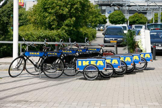 IKEA, IKEA Denmark, IKEA bike trailers, IKEA flatpack, IKEA bicycle rental, IKEA bicycles, IKEA flatpack packaging, IKEA transport, eco-friendly transportation, bike power, bicycle power, bicycle transport, ikeatrailer1