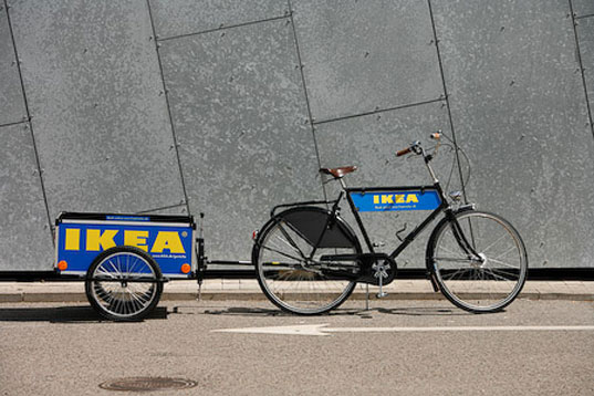 IKEA, IKEA Denmark, IKEA bike trailers, IKEA flatpack, IKEA bicycle rental, IKEA bicycles, IKEA flatpack packaging, IKEA transport, eco-friendly transportation, bike power, bicycle power, bicycle transport, ikeatrailer4