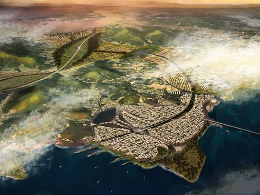 foster + partners, foster and partners, south korea, incheon, sustainable city, eco city, eco-city