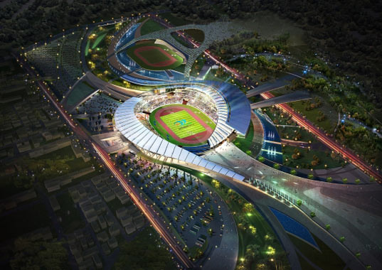 sustainable design, green design, incheon stadium, south korea, populous, heerim architects and planners, 17th asian games