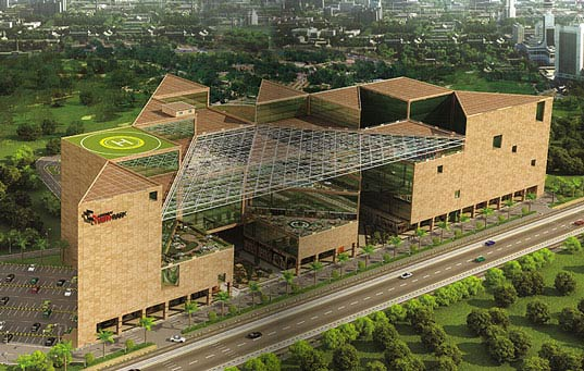 indiait, Landmark Cyber Park, Landmark Cyber Park India, green building India, green building Gurgaon, sustainable building India, sustainable building Gurgaon, India IT, India information technology, Christopher Charles Benninger Architects,