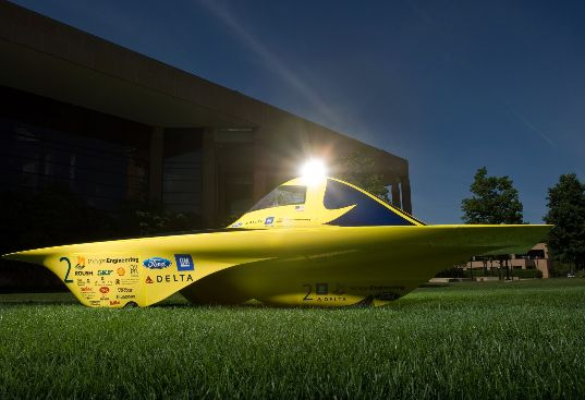 Infinium Solar Car, racing, electric vehicle, photovoltaic, lithium battery, Michigan Engineering, U-M, Ford, General Motors