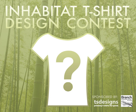 INHABITAT TShirt Design Competition, Inhabitat Design Competition, T.S. Designs, Branch, Eco-friendly TShirt printing, Green design, Eco Design, Sustainable Design, Eco friendly screen printing, green fabric printing, water based screen printing