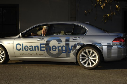 hydrogen, hybrid, bmw, jay leno, environment, celebrity, green, car, automobile