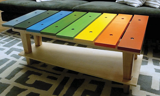 Jellio Debuts Their Xylophone Coffee Table Inhabitat Sustainable Design Innovation Eco