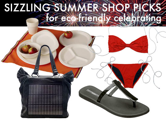 summer shop picks, sustainable style, green style guide, green bbq, green party, eco-friendly fourth of july, green independence day