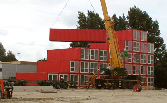 Keetwonen, shipping container housing, TempoHousing, shipping containers, container architecture, prefab housing, prefab architecture