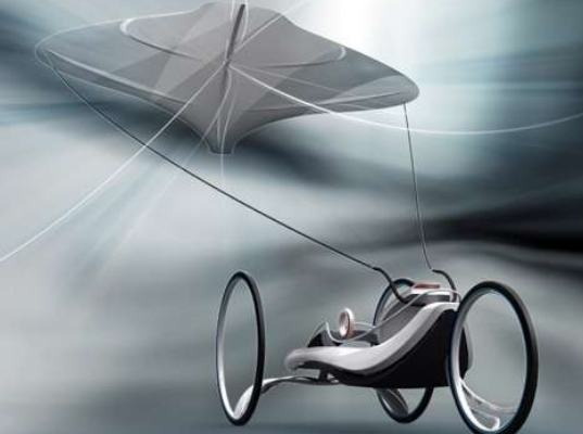 kite car, wind powered vehicle, concept vehicle, green vehicle, wind light vehicle, windsurfing vehicle