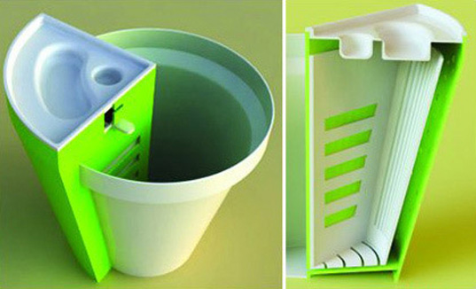 jarst, compost vase, green solutions, sustainable design, green design, planter, gardening