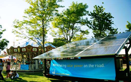 Solar powered carousel by PG&E