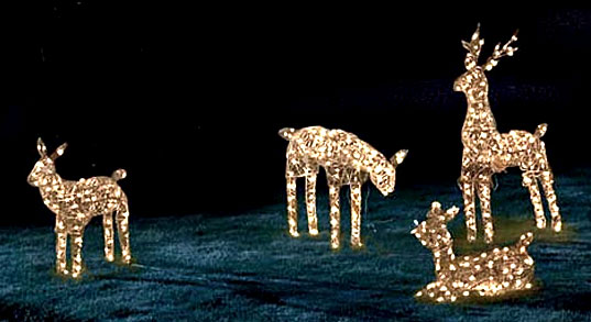 LED Lights: Dreamin' of a Green Christmas, LED Holiday Lights, LED Christmas Lights, LED Christmas Reindeer, LED Xmas Lights