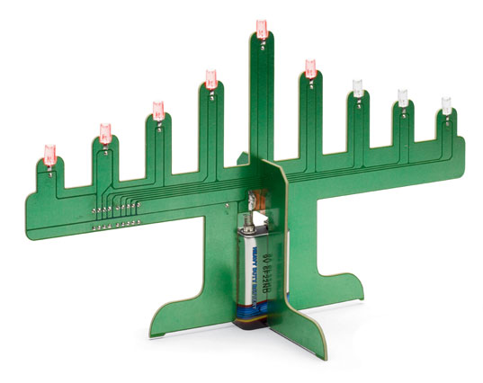 sustainable design, green design, holiday, products, led menorah