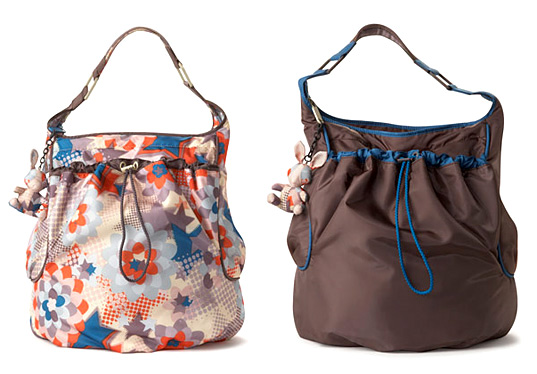 Stella McCartney Le Sportsac, Stella McCartney, Le Sportsac, LeSportsac Hobo Bag, eco-friendly recycled polyester, eco chic fashion, eco friendly accessories, green fashion, sustainable style, eco friendly handbags, eco friendly totes, eco chic shoulder bags
