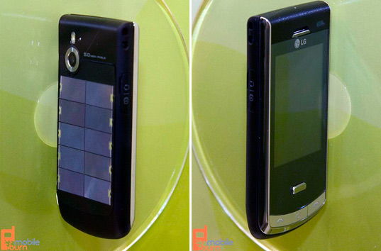 lg solar phone, greener gadget, sustainable design, green design, photovoltaic cell phone, alternative energy, sustainable energy