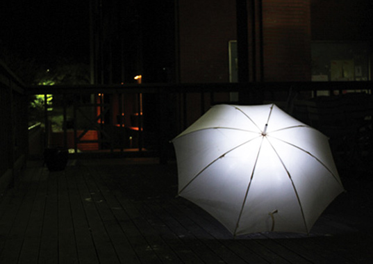 lightdrops umbrella, light generating umbrella, kinetic energy, green design, sustainable design, green gadget, clean technology, renewable energy