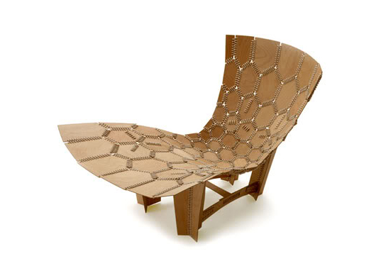 Emiliano Godoy, knit chair, wooden chair, lounge chair