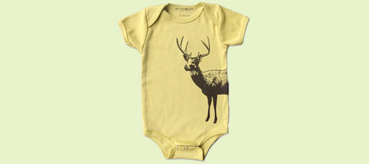 little lark deer onesie, ittle lark, organic onesie, organic baby clothing, organic kids clothing, organic tee, organic fashion, green tee, green onesie, little lark, pair look