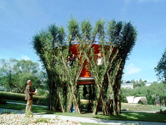 botany building, trees, tree architecture, architecture, living structures, tree bending