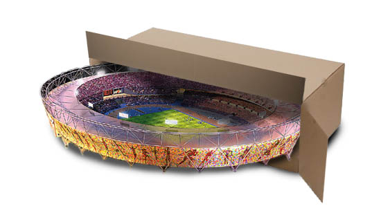 London Olympics, London Olympic Stadium, flatpack structures, flatpack shipping, disassemble stadium, Olympic Games Chicago, 2016 Olympic Games, Olympic Stadium, HOK Sport, HOK Sport London Olympic Stadium, prefabricated structures, prefab structures