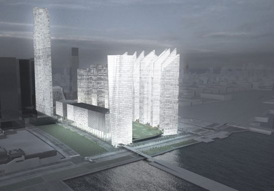 Steven Holl's proposal for the Hudson Yards, Steven Holl Hudson Rail Yards, MTA, NY MTA, NYC, New York City Hudson Rail yards green development, steven holl, hudson yards, new york city, architecture, sustainable design, greywater, recycling, geothermal, efficient
