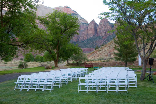 Green Weddings, Location, Rental Chairs