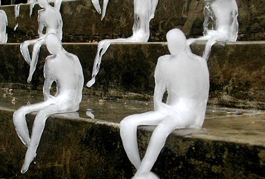 melting man, nele azevedo, arctic climate change, climate change, eco art, environmental art, public eco art installation