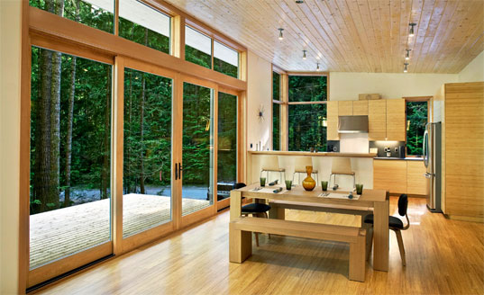 Prefab friday method home s completed cabin inhabitat for Prefabricated homes seattle
