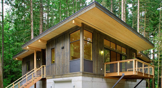 Method Homes Modular Cabin, prefab homes, prefabricated homes, green building prefab, prefab buildings Method Homes, Seattle, Washington, fsc-certified lumber