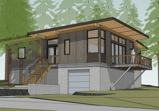 Method homes completes traditional craftsman style doe bay for Prefabricated homes seattle