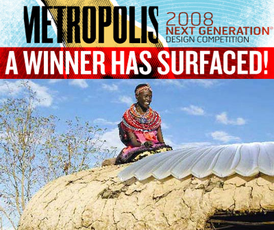 2008 Metropolis Next Generation design competition, Next Generation design competition, Metropolis Next Generation, San Francisco architect Eric Olsen, architect Eric Olsen, Solar Water Disinfecting Tarpaulin, potable water solutions, drinking water solutions, drinking water purification, solar water disinfection, humanitarian design solutions