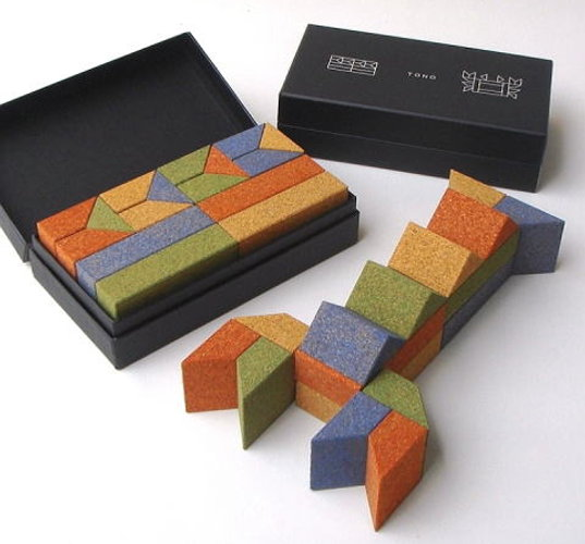 all-natural cork, cork building blocks, eco toys, nontoxic paint, eco-friendly paint, inhabitots