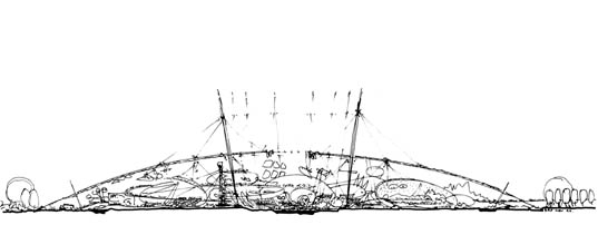 Millennium Dome Sketch Rogers Richard Pritzker