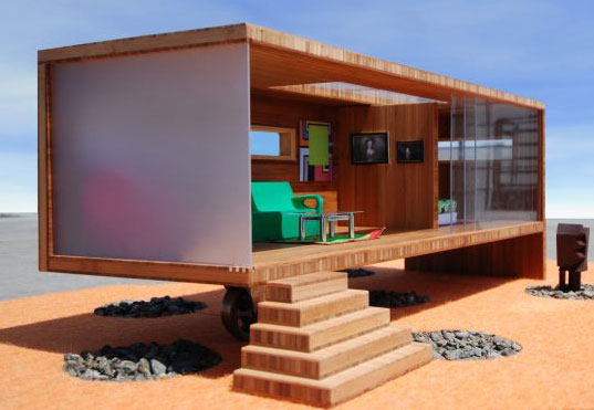 david baker architect, prefab dollhouse, green prefab, modern dollhouse, green dollhouse, modularean eco house, prefab design for kids, prefab architecture, modular architecture, green homes for kids, eco-friendly homes