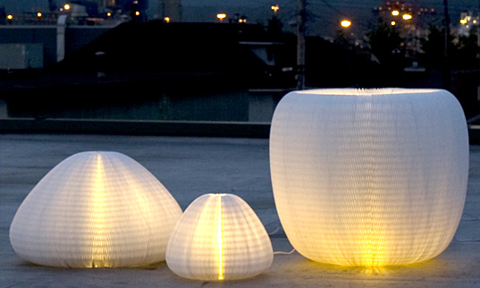 molo urchin softlight, energy efficient lighting, flatpack lamp, molo design, molo light sculpture, green design, sustainable design, 100% design