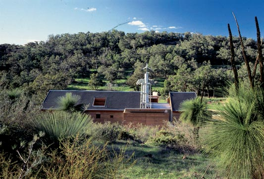 kimberly ackert, ackert architects, monier design commission, monier house, sustainable architecture, wind turbine, solar water heaters, perth australia, passive cooling