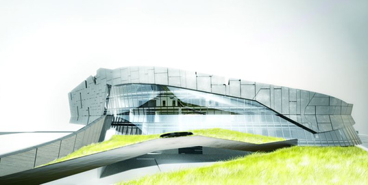 shanghai dragon, morphosis architecture, morphosis office, giant pharmaceuticals company, sustainable architecture, green building, green roof, daylighting