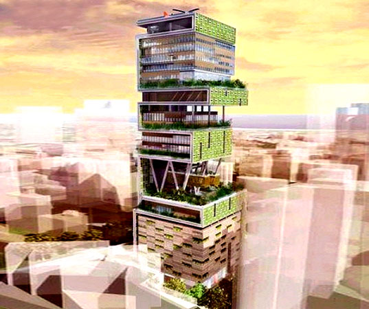 Mumbai Green Skyscraper, green skyscraper, green tower, sustainable tower, mumbai sustainable building, SITE architecture, Mukesh Ambani, India green building