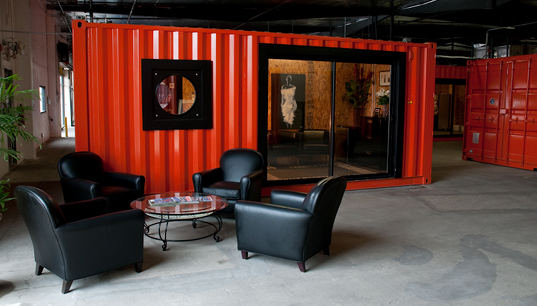 orange county, shipping container, office space, shipping container office, reuse, recycled materials