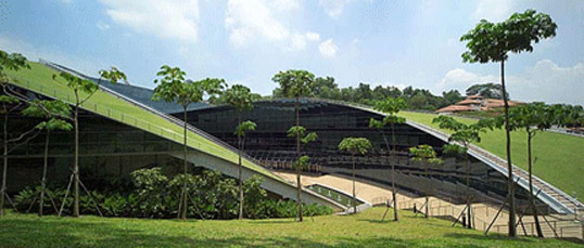 Nanyang Technological University, Singapore, Art, Design, Media, green roofs, natural landscaping, CPG Consultants, glass facade, nanyang4.jpg
