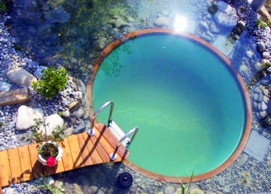 natural swimming pool, natural filter, plant filter, UV filter, sustainable pond, chemical-free swimming pools, clear water revival, total habitat